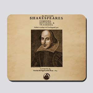 First_Folio-ornament-Large Mousepad
