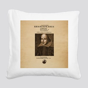 First_Folio-ornament-Large Square Canvas Pillow
