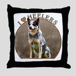 blueheelerwh Throw Pillow