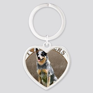 blueheelerwh Heart Keychain