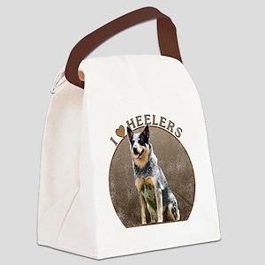blueheelerwh Canvas Lunch Bag