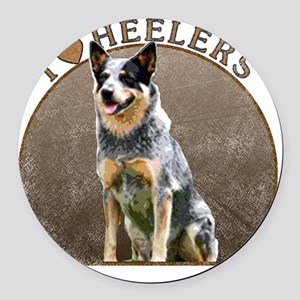 blueheelerwh Round Car Magnet