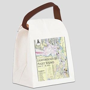 Puget Sound map 5-19-11 Canvas Lunch Bag