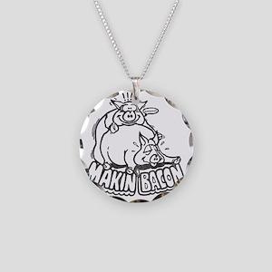 makinbaconwh Necklace Circle Charm