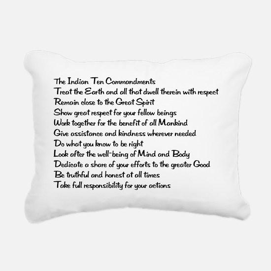 Indian 8x6 Rectangular Canvas Pillow