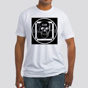 G8-skull_invert_large Fitted T-Shirt
