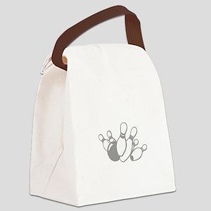 bowl111black Canvas Lunch Bag
