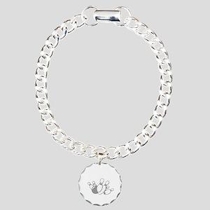 bowl111black Charm Bracelet, One Charm