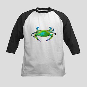"""Neon"" Blue Crab Kids Baseball Jersey"