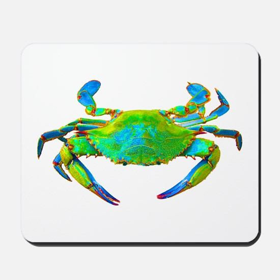 """Neon"" Blue Crab Mousepad"