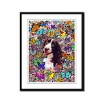 Lady Spaniel Butterflies Framed Panel Print