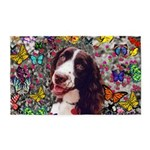 Lady Brittany Spaniel Butterflies 3'x5' Area Rug