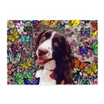 Lady Brittany Spaniel Butterflies 5'x7'Area Rug
