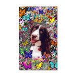 Lady Brittany Spaniel Butterflies 20x12 Wall Decal