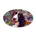 Lady Spaniel Butterflies 20x12 Oval Wall Decal
