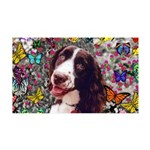 Lady Brittany Spaniel Butterflies 35x21 Wall Decal