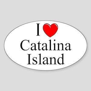 """I Love Catalina Island"" Oval Sticker"