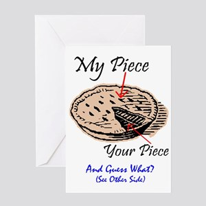 SHARE MY PIE? - HERES HOW Greeting Card