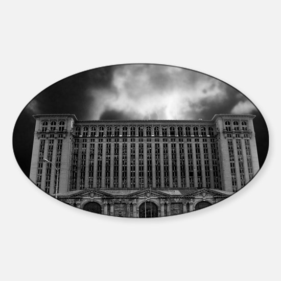 detroitTrainStation Sticker (Oval)
