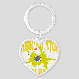 bowl105black Heart Keychain