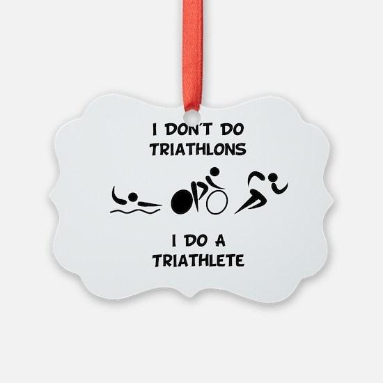 Do Triathlete Black Ornament