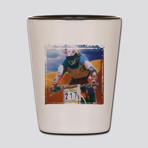 Motocross man Shot Glass