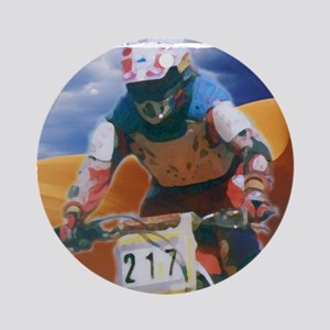 Motocross man Round Ornament