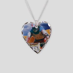 Motocross man Necklace Heart Charm