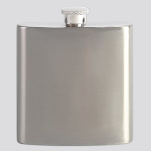 Steam Train White Flask