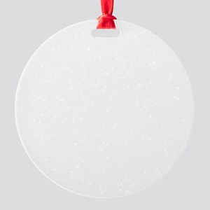 Steam Train White Round Ornament