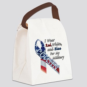 Red White and Blue for my Militar Canvas Lunch Bag
