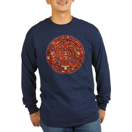 MAYAN CALENDAR Long Sleeve Dark T-Shirt