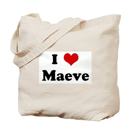 I Love Maeve Tote Bag