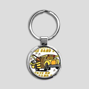 bandbus2000wh Round Keychain