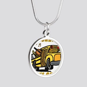 bandbus2000wh Silver Round Necklace