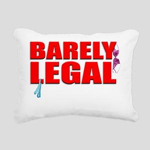 BARELY_ShirtFront Rectangular Canvas Pillow