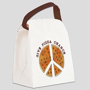 pizzachance2wh Canvas Lunch Bag