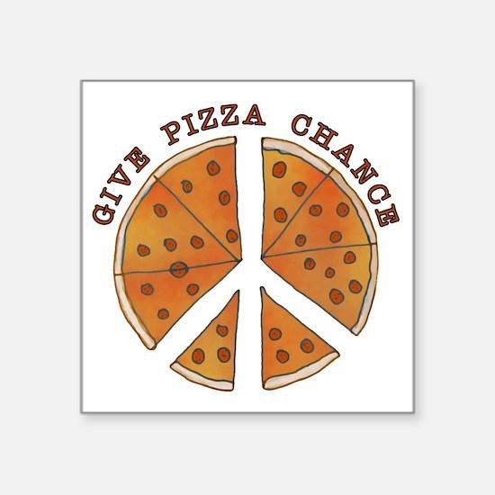 "pizzachance2wh Square Sticker 3"" x 3"""