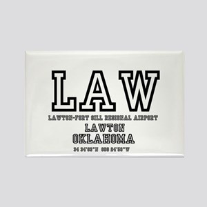 AIRPORT CODES - LAW - LAWTON FORT Rectangle Magnet