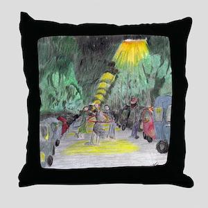 The Jiggly Hula Gal Throw Pillow