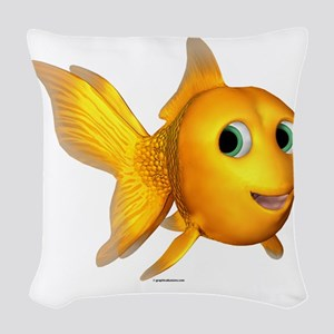 ga_goldiefish Woven Throw Pillow