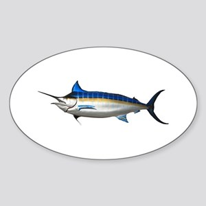 Blue Marlin Oval Sticker
