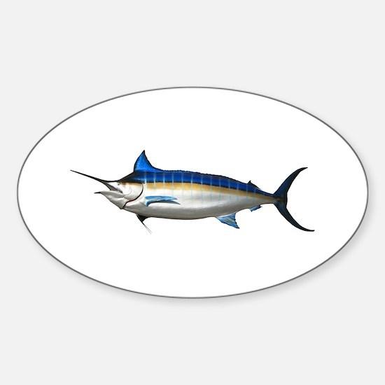 Blue Marlin Oval Decal