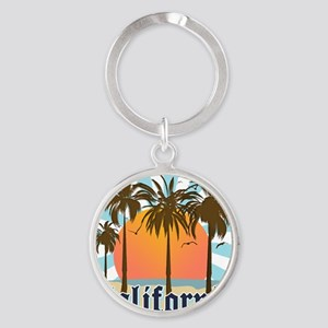 California Light Round Keychain