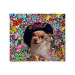 Chi Chi Chihuahua Butterflies Throw Blanket