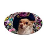 Chi Chi Chihuahua 20x12 Oval Wall Decal