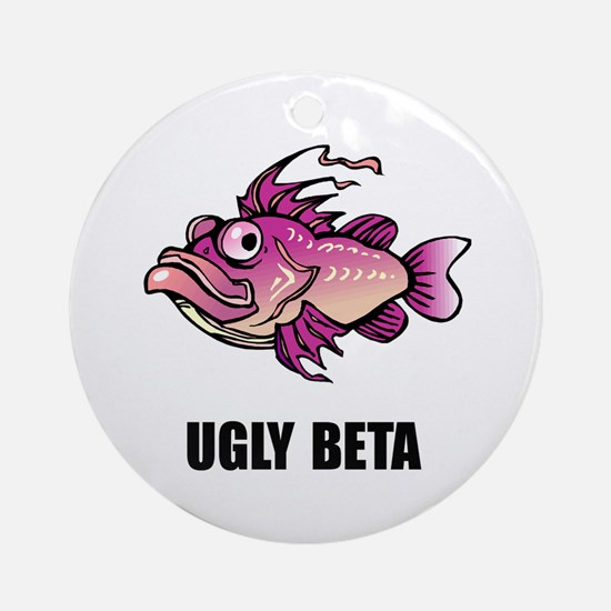 Ugly Beta Ornament (Round)