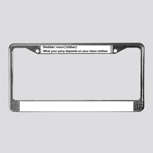 Pony Slobber License Plate Frame