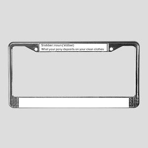 Pony Slobber License Plate Frame