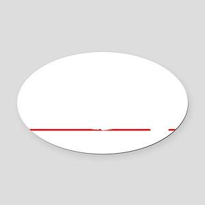 bowl95black Oval Car Magnet